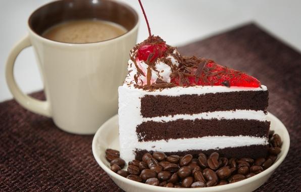 кофе и тортик фото